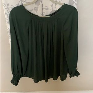 Dark green Banana republic blouse